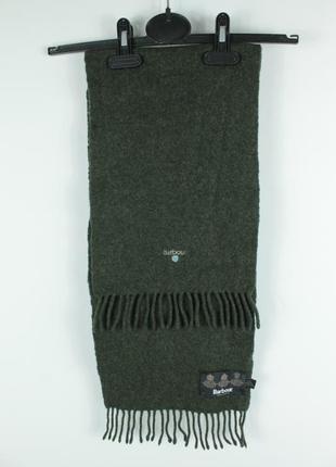 Шикарный оригинальный шарф barbour plain lambswool scarf