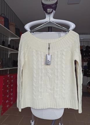 Свитер женский, кофта, свитер с открытыми плечами jennyfer