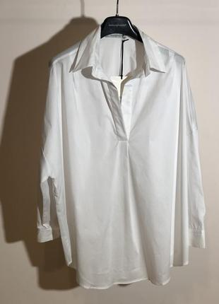 Рубашка белая коттон италия