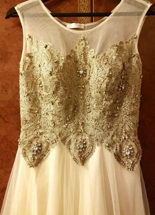 Шикарное вечернее/свадебное /длинное  платье