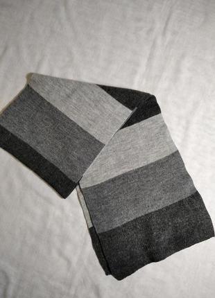 Теплый шарфик в полоску унисекс. германия.