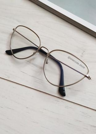 Очки компьютерные лисички, очки с антибликом доя компьютера