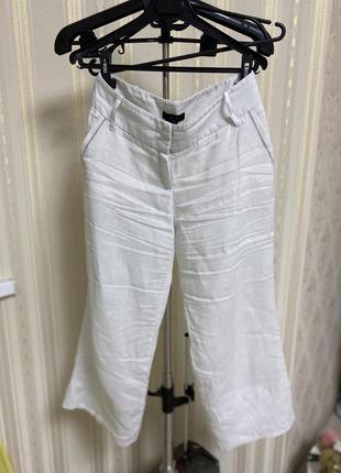 Льняные штаны манго