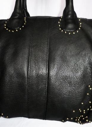 Шикарная большая сумка натуральная кожа varese