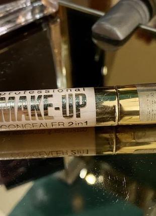 Жидкий корректор 2в1 с аппликатором eveline cosmetics (04 light)