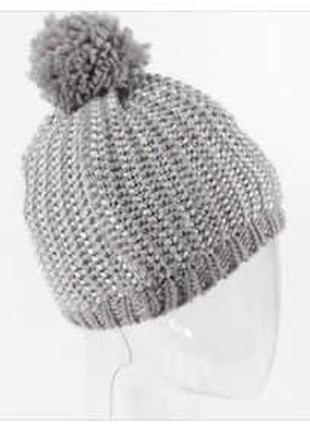 Lupilu girl / тепла шапка с люрексом / one size. 1110-116-122-128-134 (4-8р.+)