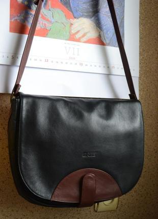 Bree кожаная мужская сумка на длинном ремне оригинал.