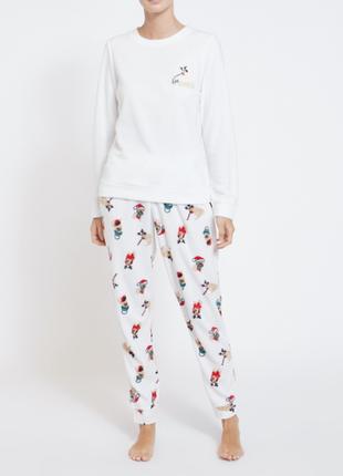 Пижамка микрофлис от dunnes stores из англии  акция
