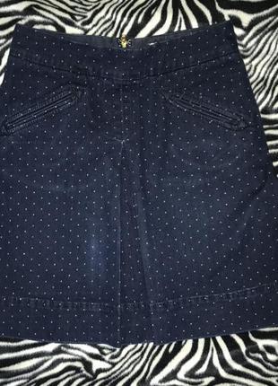 Джинсовая юбка в горошек