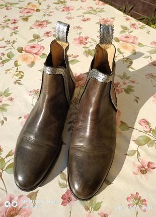 Ботинки демисезонные,кожаные