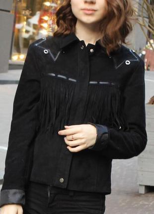 Куртка bershka с бахромой