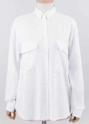 Белая рубашка блузка удлиненная
