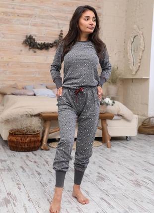 Акция💥 трикотажный домашний костюм/пижама кофта и штаны 42-50