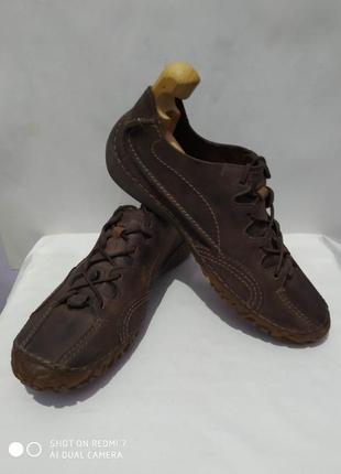 Кожаные туфли мокасины кроссовки clarks flex light