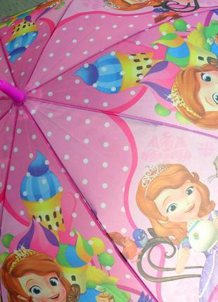 Распродажа софия прекрасная! замечательный зонт зонтик трость для девочки 3-8 лет