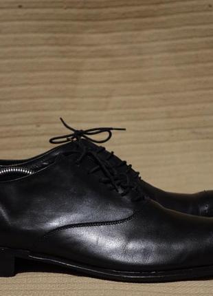 Формальные черные кожаные туфли-оксфорды vincent adf antonio di frenna italy 45 р.