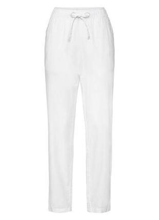 Esmara лен / хлопок штаны белые спорт классика брюки новые с этикеткой m / l