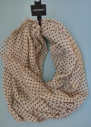 Снуд хомут шарф в горошек c&a германия
