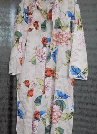 Платье рубашка туника хлопок италия l/xl/xxl оверсайз 60 euro oversize
