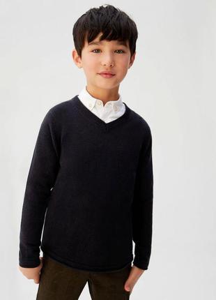 Тонкий пуловер mango для школы хлопок