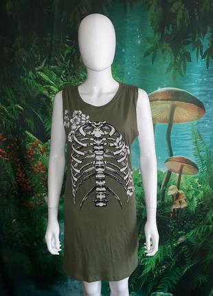 H&m blogger футболка длинная майка зеленый хлопок,платье новая l/m/s оверсайз
