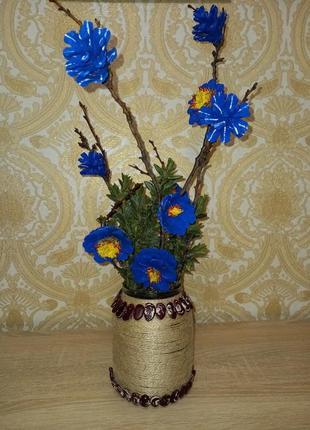 Декоративная ветка букет в вазе