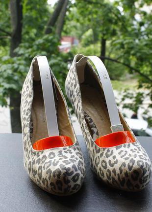 Трендовые леопардовые туфли 39-40 | 24 см