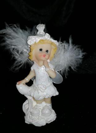 Статуэтка ангелочек, ангел, ребенок, фигурка, девочка