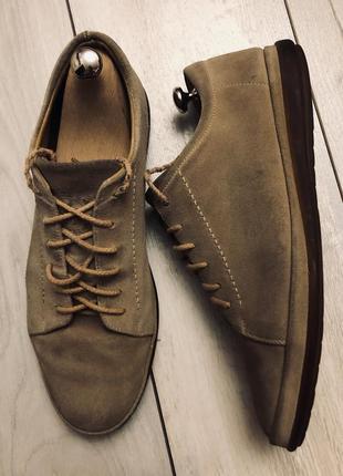 Мужские замшевые туфли bally{43} италия