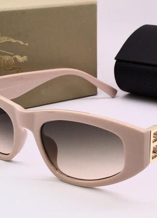 Женские солнцезащитные очки в нюдовой пудровой оправе жіночі окуляри