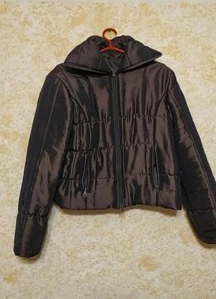 Короткая куртка шоколадного цвета, италия