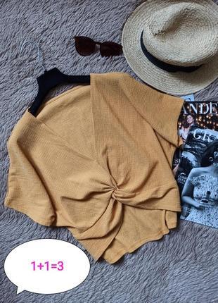 Красивая блузка с узлом/блуза/кофточка/футболка/топ