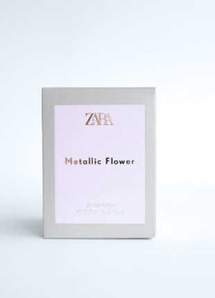 Парфюмерная вода духи zara metallic flower, 100 мл