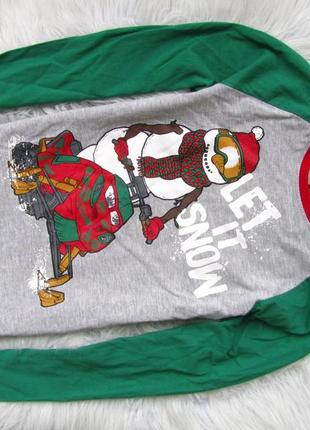 Стильный кофта свитшот tu снеговик новогодний новый год