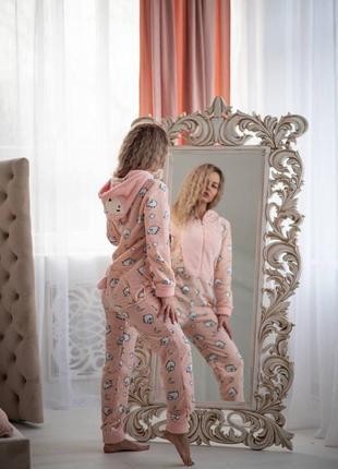 Попожама с карманом пижама с вырезом на попе барашка подарок девушке на 14 февраля