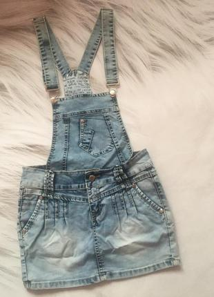 Комбинезон сарафан юбка джинсовая