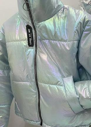 Модна курточка ♥️, яскрава, фольгова, багато кольорів! 🌈😃👍