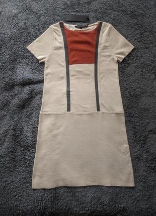 Платье новое размер м 50% шерсть( меринос)