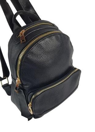 Женский городской рюкзак из хорошей эко.кожи, чёрный женский рюкзак, жіночий рюкзак сумка