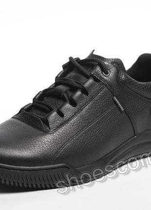Мужские кожаные кроссовки clubshoes 20/3 черные
