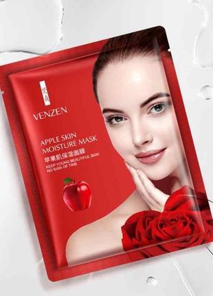 Тканевая маска venzen с соком яблока и гиалуроновой кислотой