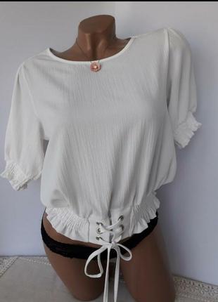 Блуза рубашка с поясом завязками