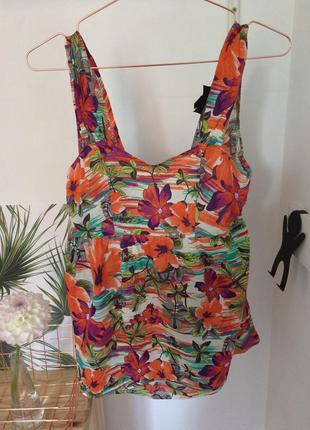 Майка блуза  с открытой спинкой topshop