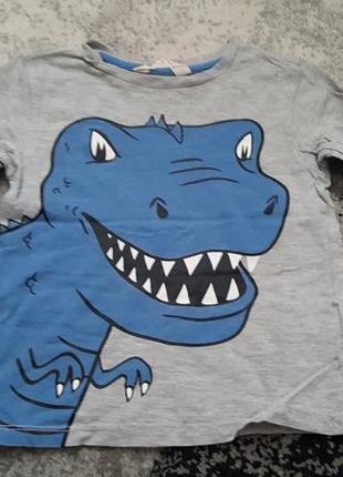 Реглан h&m з динозавром на 2-4 роки