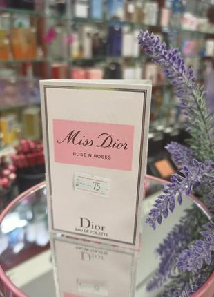 Пробник туалетна вода для жінок christian dior miss dior rose n'roses 1 мл