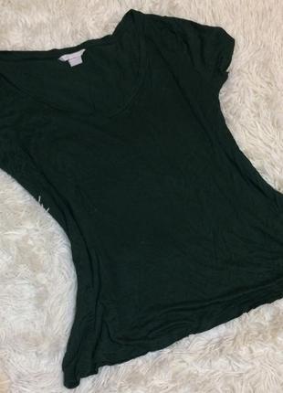 Женская футболка с v-образным вырезом h&m basic