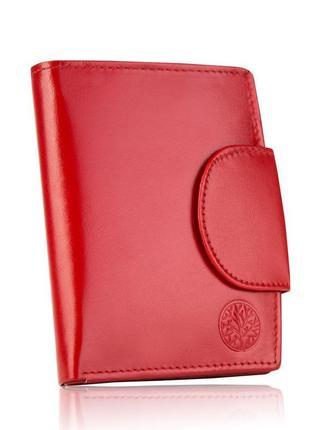 Кожаный женский кошелёк betlewski с защитой bpd-dz-319 красный