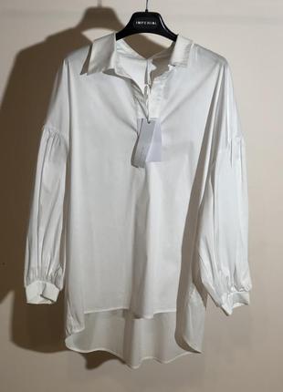 Рубашка белая коттон италия imperial