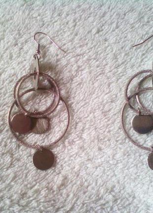Серебряные сережки с кольцами