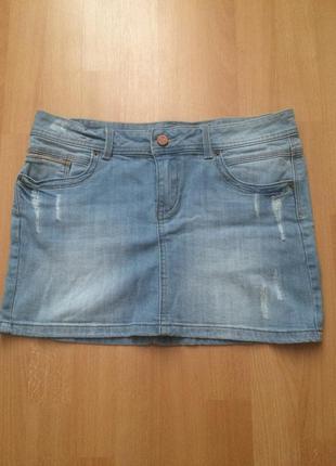 Джинсовая мини юбка pimkie